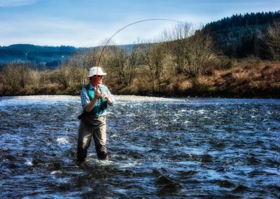 Volunteer fishing the McKenzie